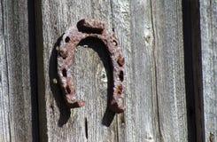 Vecchia scarpa antica del cavallo Fotografie Stock