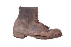 Vecchia scarpa misera Immagine Stock