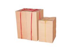 Vecchia scatola di cartone Fotografie Stock Libere da Diritti