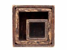 Vecchia scatola di legno Fotografie Stock Libere da Diritti