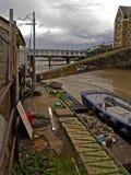 Vecchia scena della barca Fotografia Stock Libera da Diritti