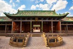 Vecchia scena della città di Yuci. Costruzione confuciana del tempio (santuario). Immagini Stock