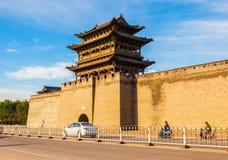 Vecchia scena della città di Yuci. torre e bastione della città. Fotografia Stock