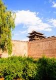 Vecchia scena della città di Yuci. torre e bastione della città. Immagini Stock