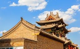 Vecchia scena della città di Yuci. Vecchia costruzione leggendaria (Sifenglou) nella vecchia città Fotografia Stock Libera da Diritti