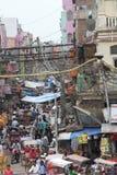 Vecchia scena della via di Delhi Fotografia Stock