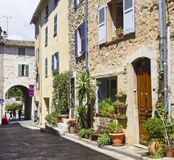 Vecchia scena 2 di Valbonne del villaggio fotografia stock