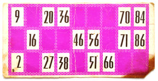Vecchia scheda del lotto Fotografia Stock