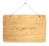 Vecchia scheda di avviso di legno Fotografia Stock Libera da Diritti