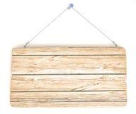 Vecchia scheda di avviso di legno Fotografia Stock