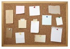 Vecchia scheda di carta del sughero della priorità bassa della nota del Brown Immagine Stock