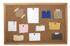 Vecchia scheda di carta del sughero della priorità bassa della nota del Brown Immagini Stock