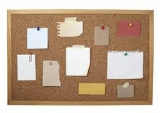 Vecchia scheda di carta del sughero della priorità bassa della nota del Brown Fotografie Stock Libere da Diritti