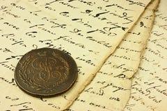 Vecchia scrittura fotografia stock