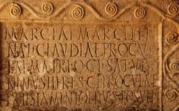 Vecchia scrittura latina Fotografia Stock