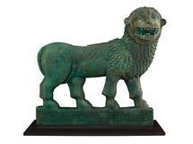 Vecchia scultura del leone Fotografia Stock