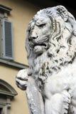 Vecchia scultura del leone Fotografia Stock Libera da Diritti