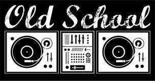 Vecchia scuola del DJ fotografia stock libera da diritti