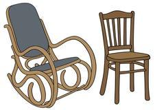 Vecchia sedia Immagini Stock