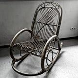 Vecchia sedia classica in bianco e nero Fotografia Stock Libera da Diritti