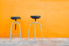 Vecchia sedia delle feci Fotografia Stock