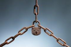 Vecchia serratura affidabile Fotografia Stock Libera da Diritti