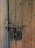 Vecchia serratura arrugginita Fotografie Stock