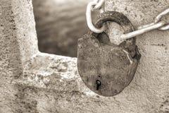 Vecchia serratura arrugginita Immagine Stock