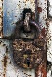 Vecchia serratura arrugginita fotografia stock libera da diritti
