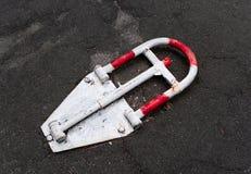 Vecchia serratura d'annata di parcheggio Fotografie Stock Libere da Diritti