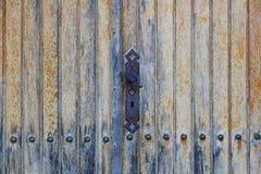 Vecchia serratura della maniglia di porta Fotografia Stock Libera da Diritti