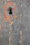 Vecchia serratura di porta, fondo del primo piano Immagine Stock
