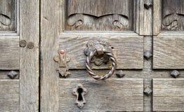 Vecchia serratura di portello Fotografia Stock