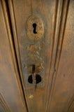 Vecchia serratura di portello Immagine Stock