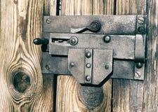 Vecchia serratura nei toni bruciati Immagini Stock