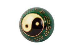 Vecchia sfera del yang del yin Fotografia Stock