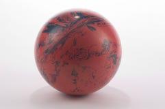 Vecchia sfera di bowling Fotografia Stock