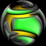 Vecchia sfera di cristallo Fotografia Stock