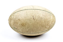 Vecchia sfera di rugby Fotografie Stock Libere da Diritti