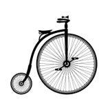 Vecchia siluetta della bicicletta Immagini Stock