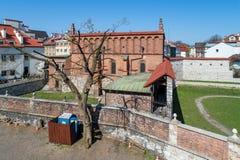 Vecchia sinagoga a Cracovia, Polonia Immagine Stock Libera da Diritti