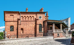 Vecchia sinagoga a Cracovia, Polonia Fotografia Stock