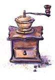 Vecchia smerigliatrice del coffe Immagine Stock Libera da Diritti