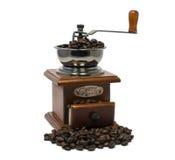 Vecchia smerigliatrice di caffè Immagini Stock