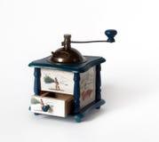 Vecchia smerigliatrice di caffè designata Fotografie Stock