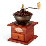 Vecchia smerigliatrice di caffè di rame Fotografia Stock