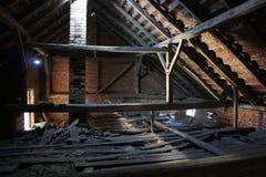 Vecchia soffitta Immagine Stock