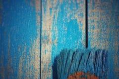 Vecchia spazzola Fotografie Stock