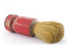 Vecchia spazzola del barbiere fotografie stock libere da diritti