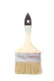 Vecchia spazzola di pittura sopra bianco Immagine Stock Libera da Diritti